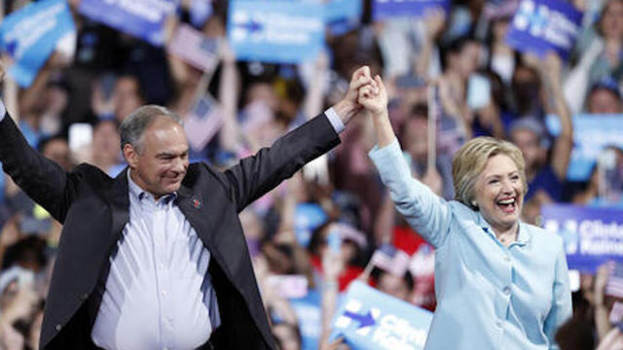 Clinton says running mate Kaine gets things done