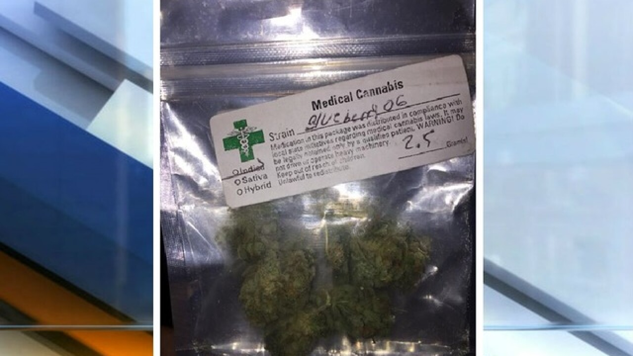 'Come get it' says FB post with picture of pot