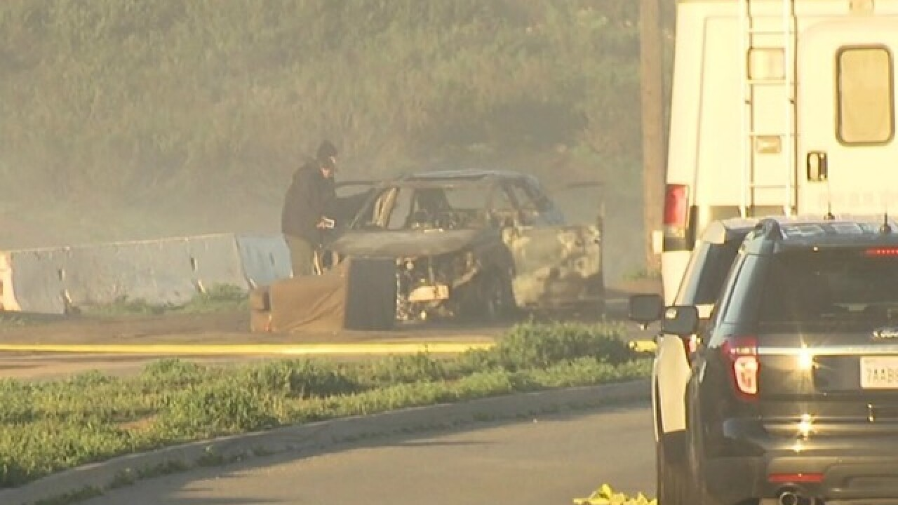 Body found inside burned-out SUV in Lakeside