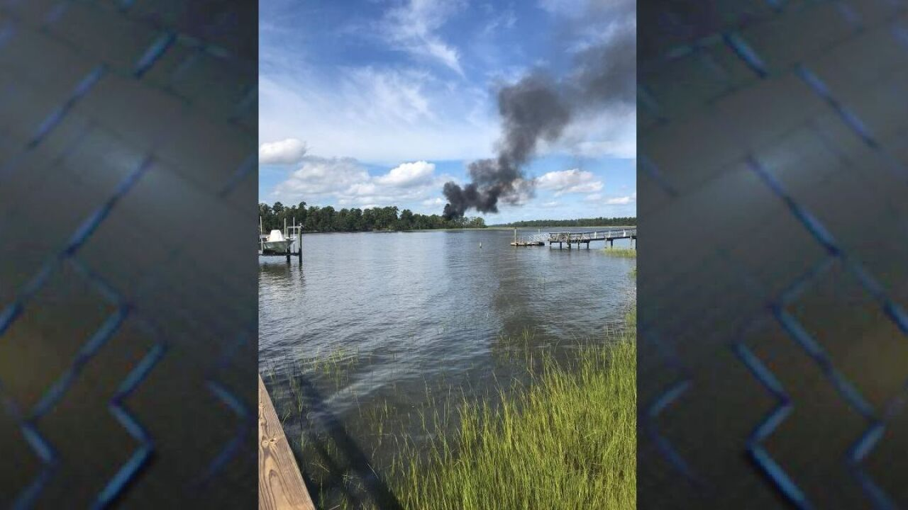 Pilot ejects safely from military plane crash in Beaufort County, SC.png