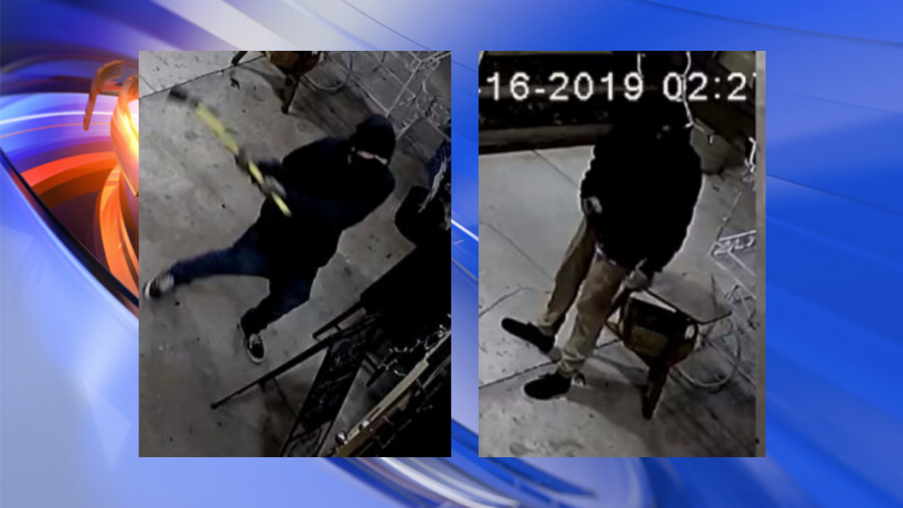 Virginia Beach Police searching for suspects using pick axe to break into businesses