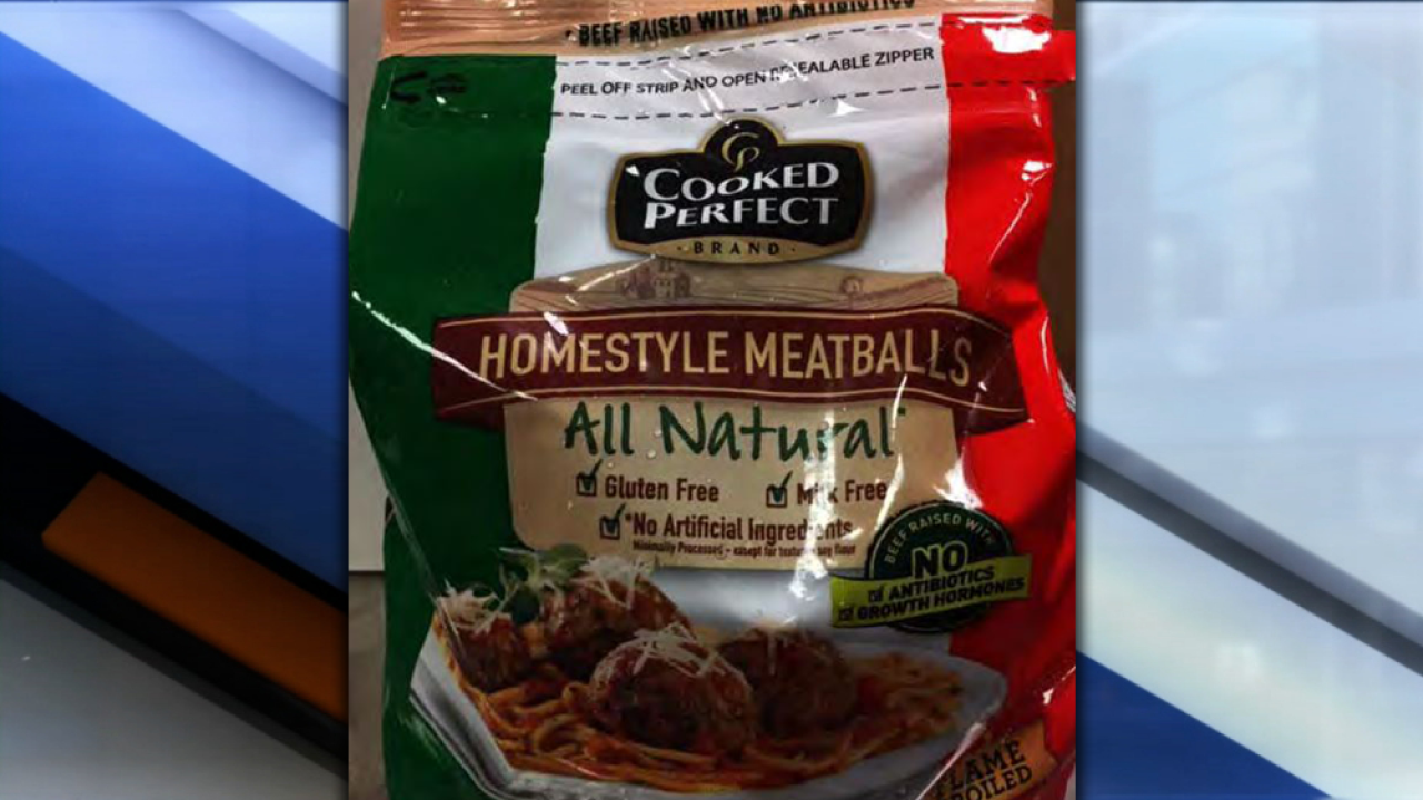 More than 53K pounds of frozen ready-to-eat meatballs recalled due to undeclared allergens