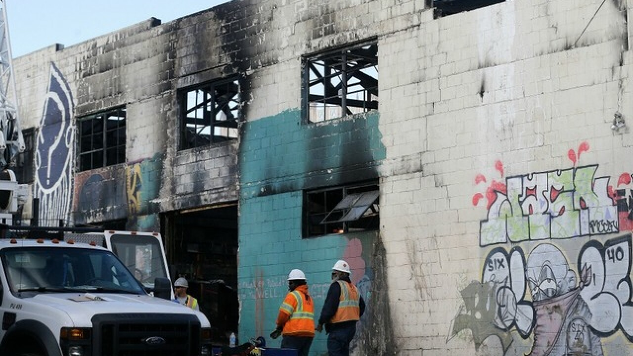 Oakland fire victims died from smoke inhalation