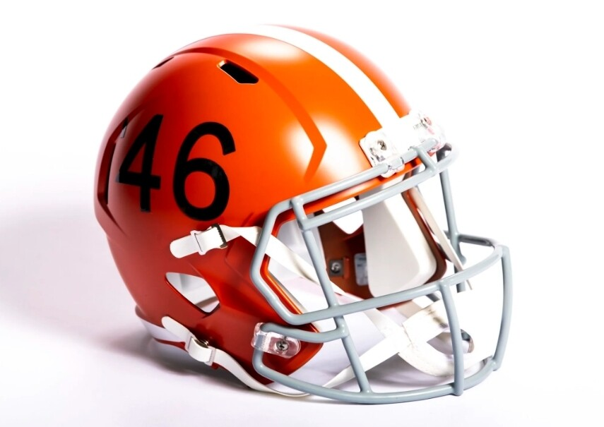 Browns 75th anniversary helmet