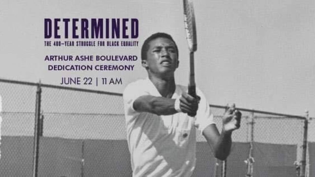 Arthur Ashe Boulevard dedication June 22,2019