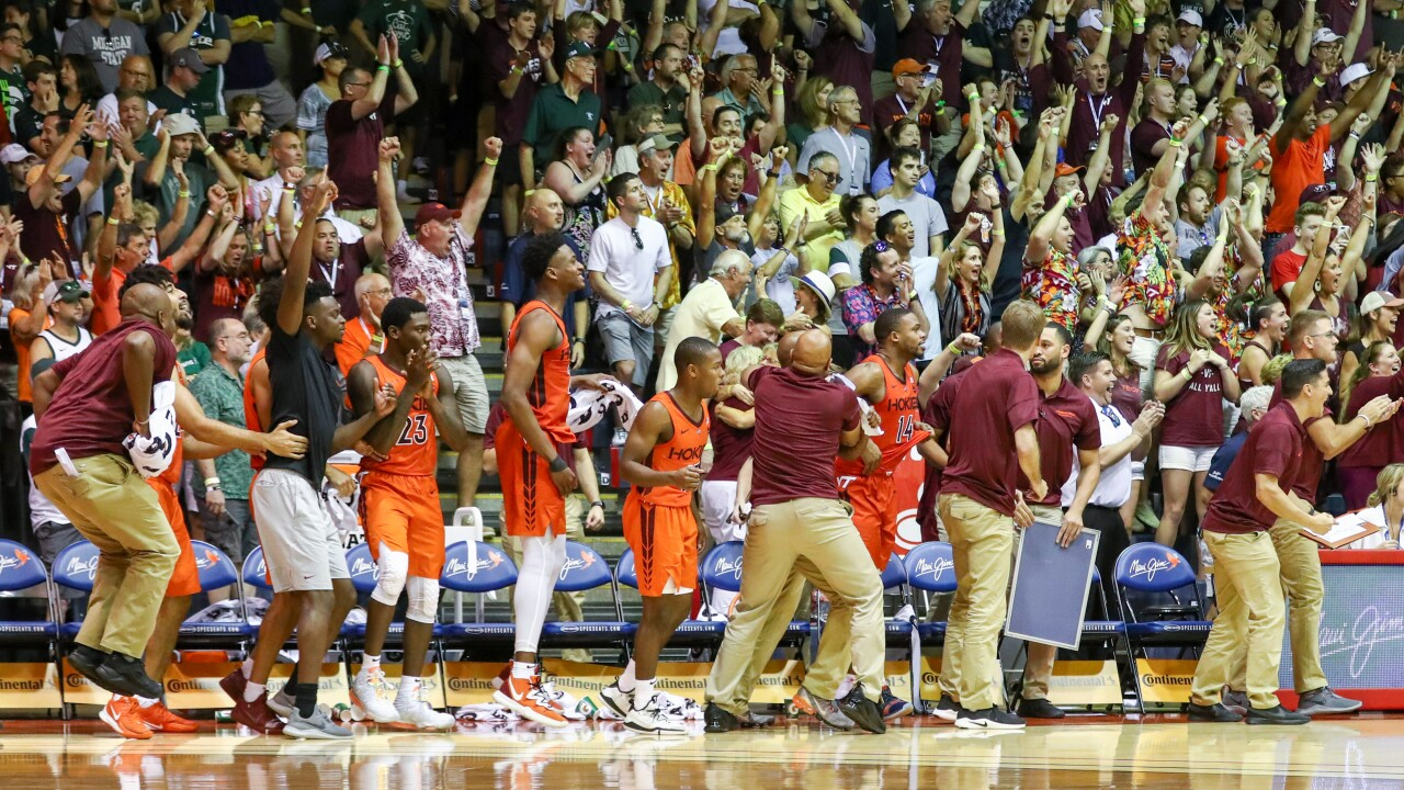 Maui wowie! Hokies men's hoops team stuns 3rd ranked Michigan State in Hawaii