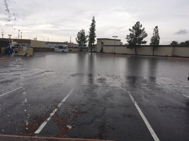 Monday morning storm dumps rain across Valley