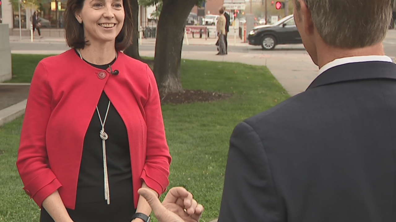 Nextdoor CEO Sarah Friar speaks with Denver 7's Tom Mustin