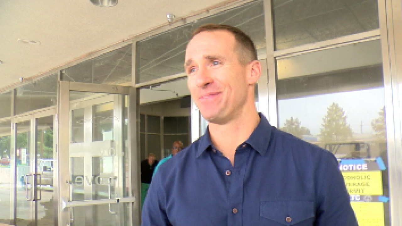 Drew Brees Visits Lafayette Today To Promote Business