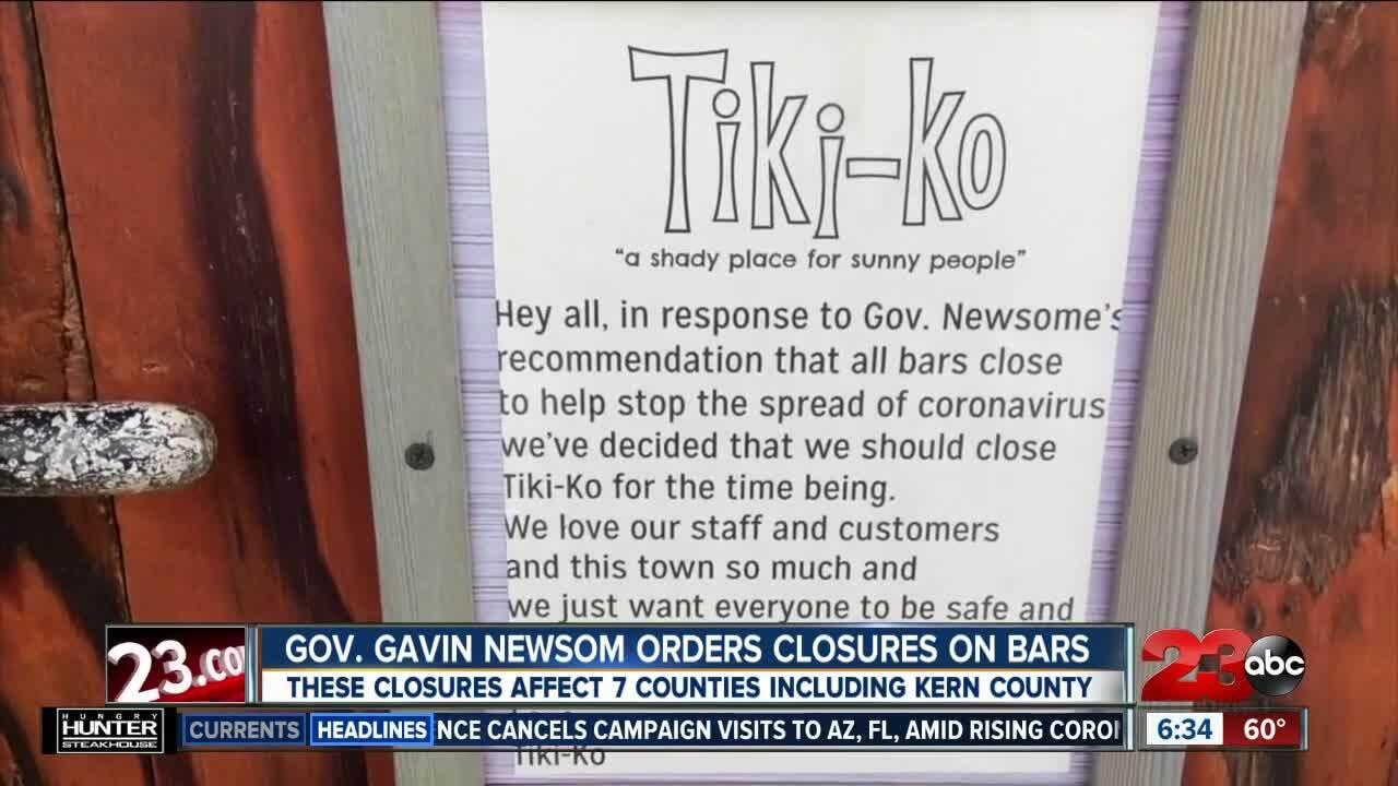 Bar Closures