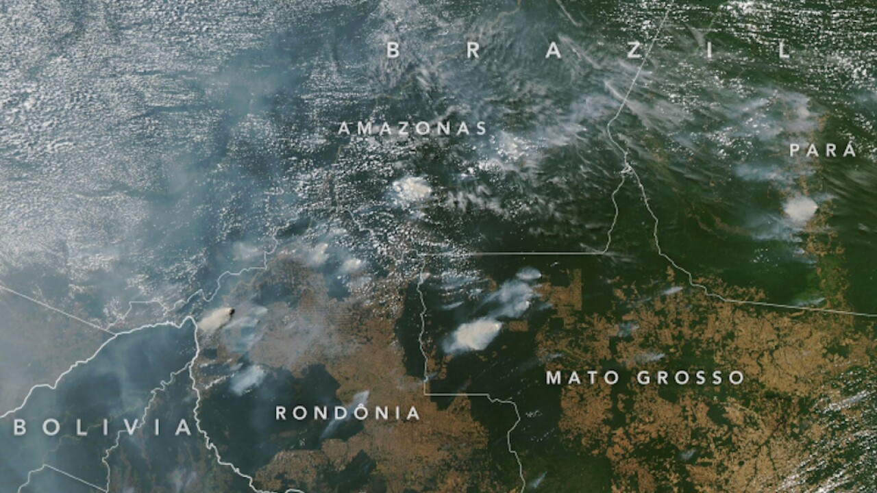 Wildfires are burning the Amazon rainforest at a record rate, research center says