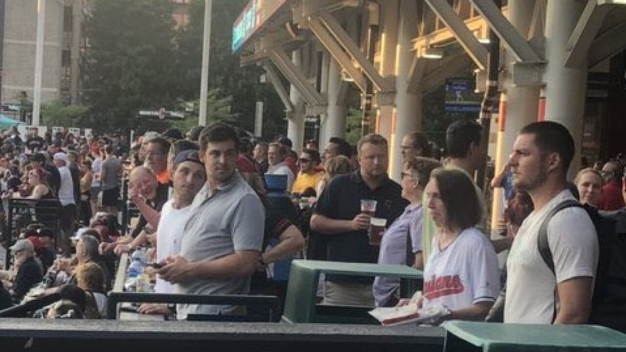 Bauer at Indians game
