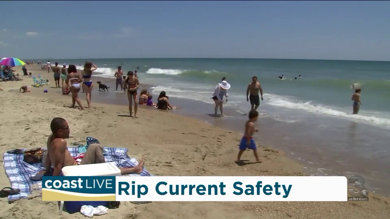 Lifeguard advice for spotting and surviving rip currents on Coast Live
