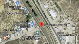 Nogales police investigated a deadly wreck Tuesday.  Police say a motorist died after a wreck at 6:01 a.m. near Grand Avenue and Third Street. Photo via Google Maps.