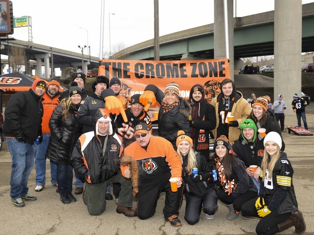 Bengals fans bring on the tailgating before Steelers rivarly game
