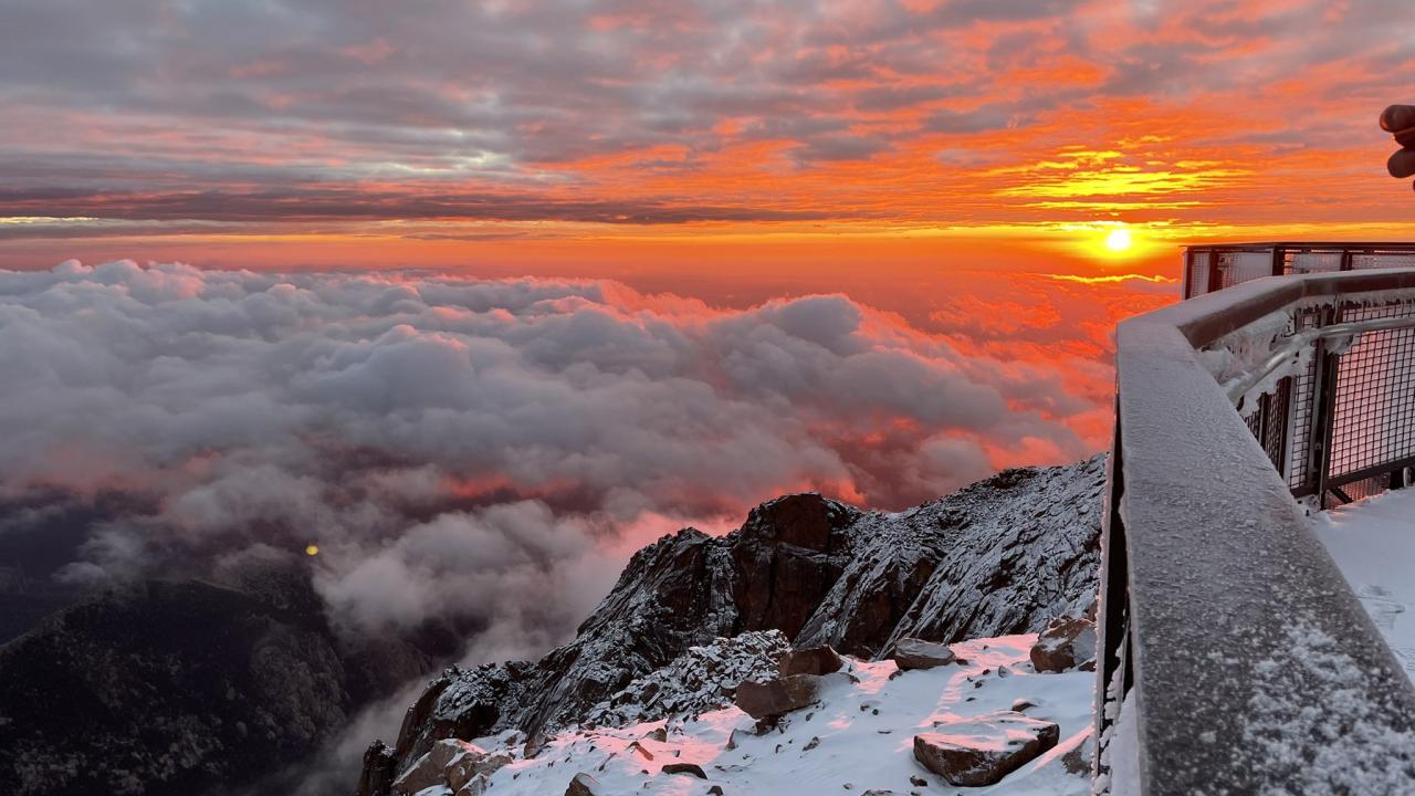 Pikes Peak sunrise @PatsCurtins