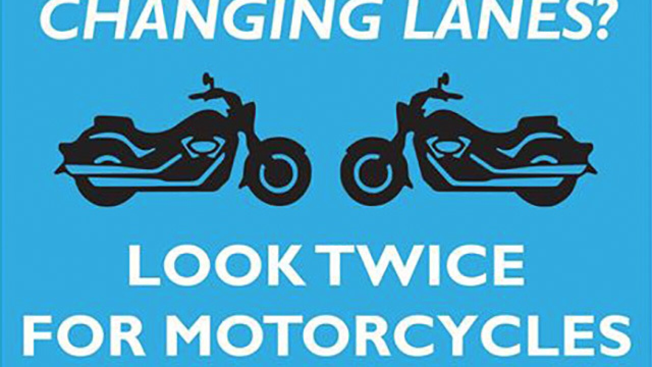 ODOT reminds drivers to 'look twice for motorcycles'