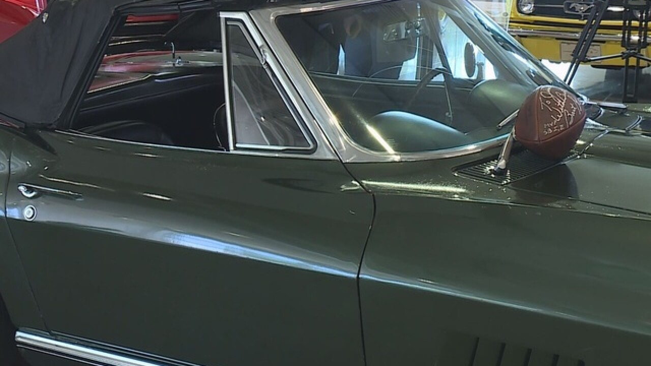 Bart Starr's Corvette on display in Green Bay