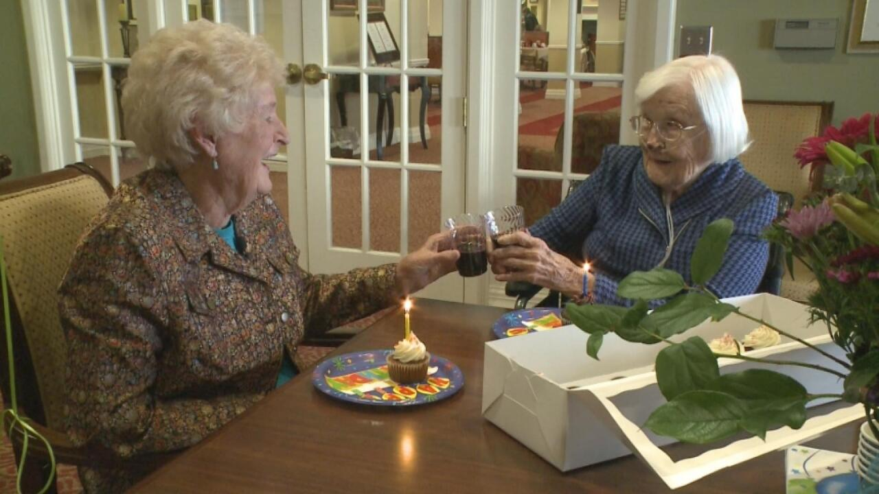 Phyllis Hines and Barbara Noone are celebrating their 95th birthdays...and 84 years as best friends.