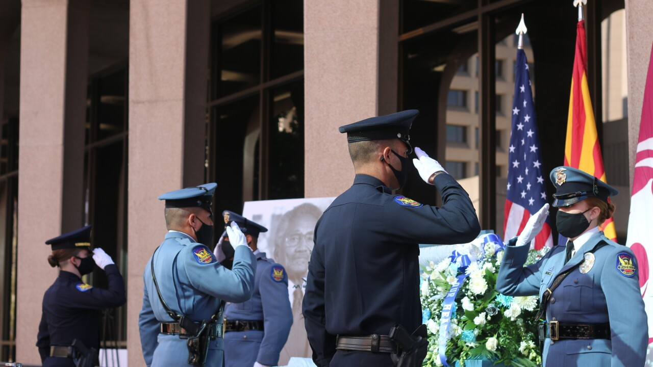 An online memorial service for civil rights icon and city leader Calvin Coolidge Goode was interrupted Tuesday by hackers yelling racist slurs. Photo via AP.