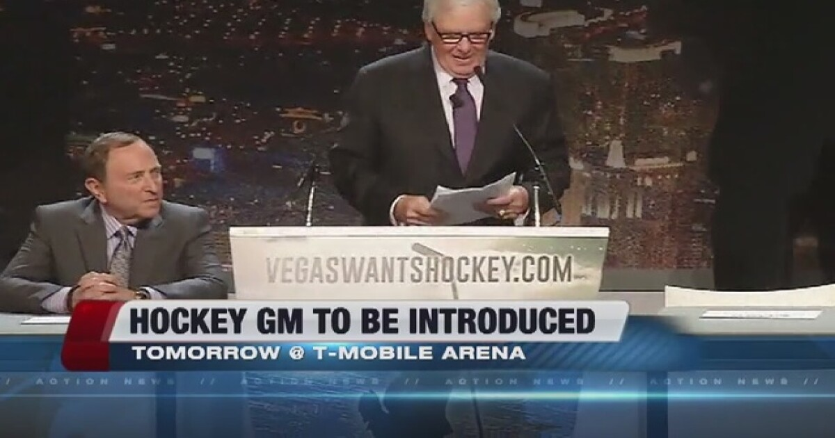 General Manager For New Las Vegas Hockey Team To Be Announced
