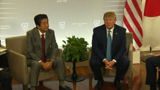 President Donald Trump, Japanese PM Shinzo Abe
