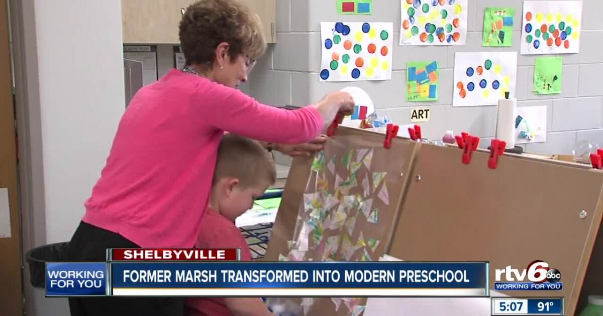 Former Marsh transformed into modern preschool
