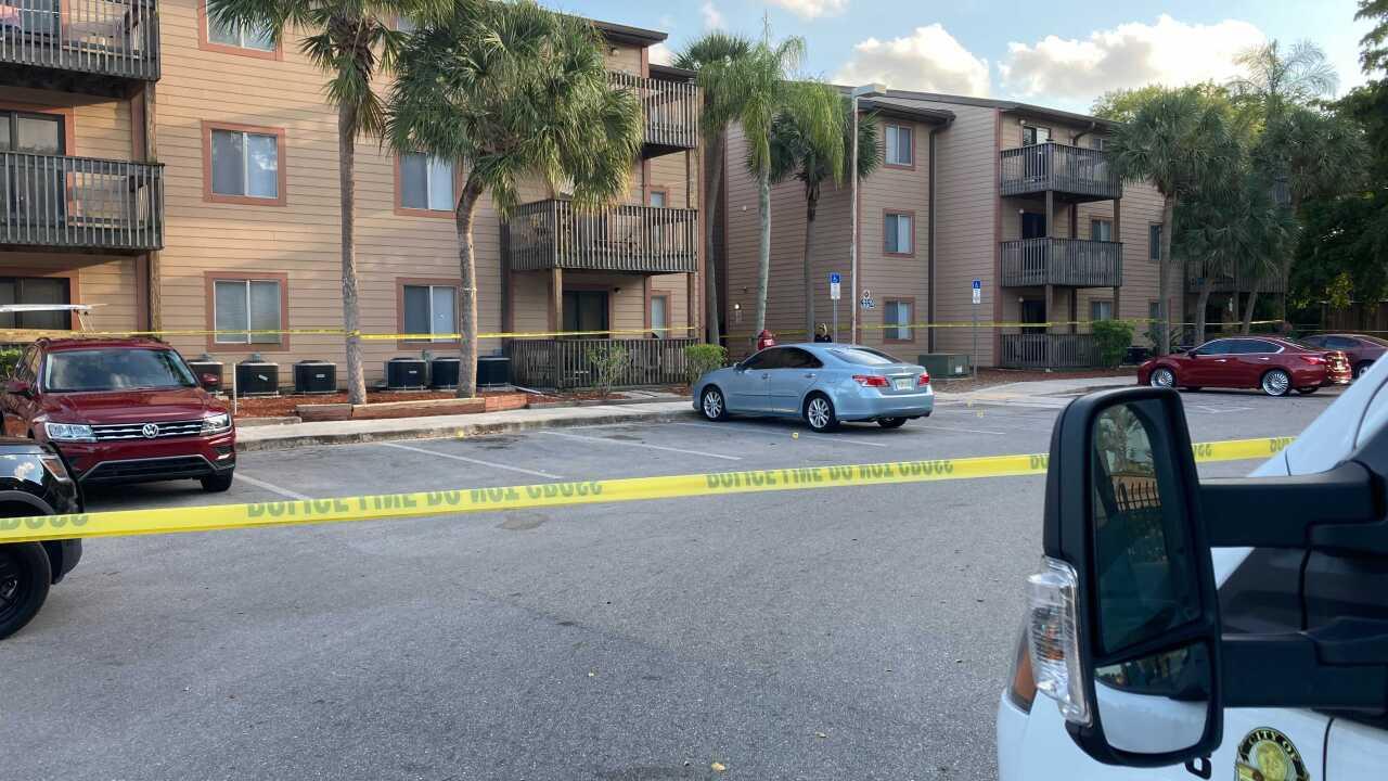Shooting at Horizons apartments