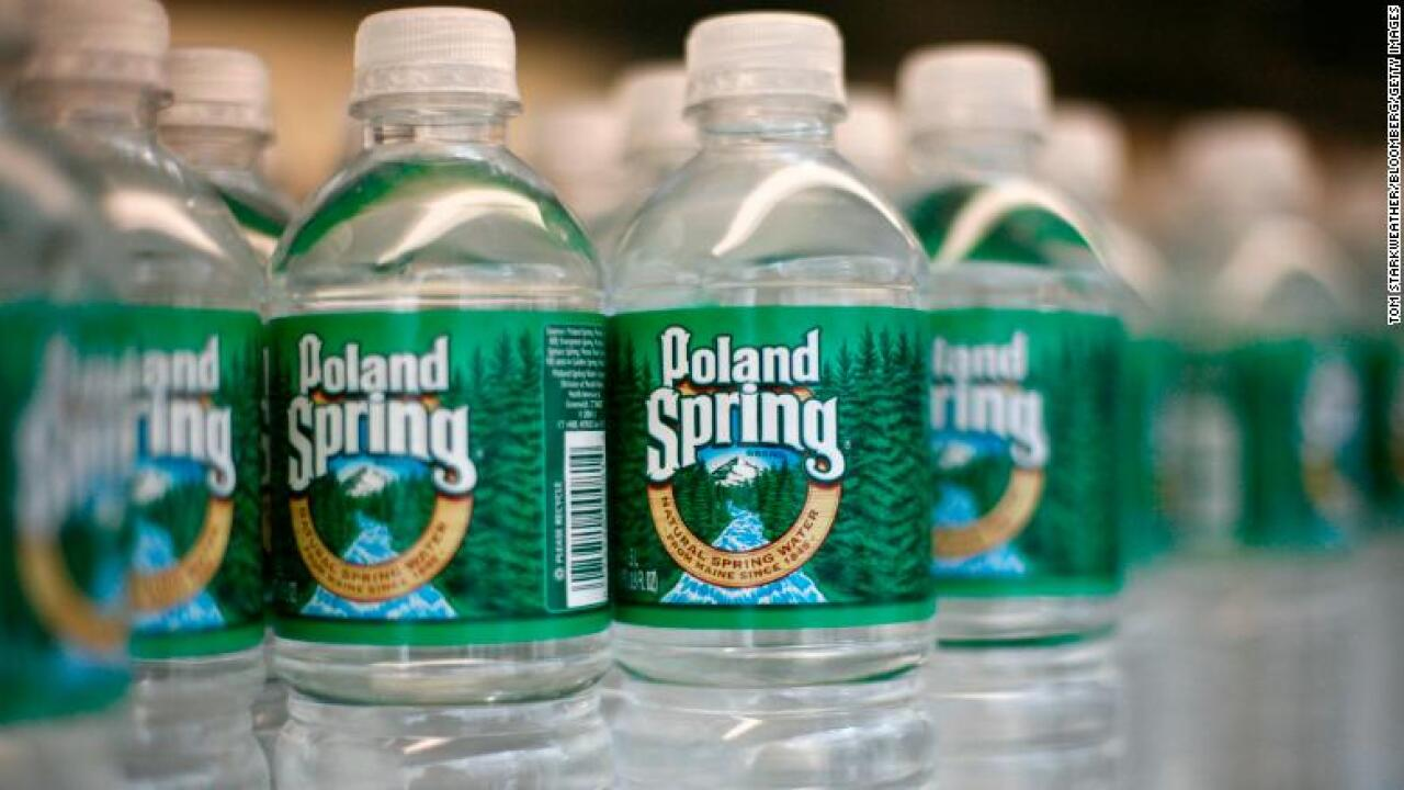 Poland Spring water will be sold in recycled bottles