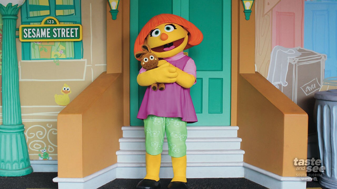 SeaWorld Orlando is announcing the month-long debut of Julia at Sesame Street Land in celebration of Autism Acceptance Month.