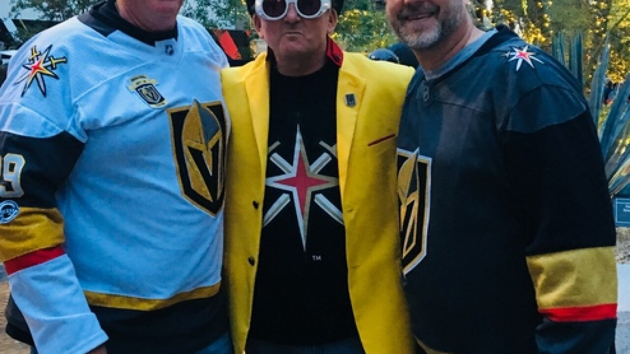 Golden Knights super fan channels Willy Wonka
