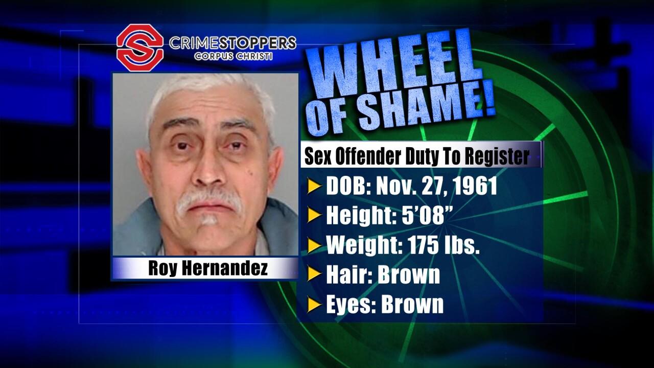 Wheel Of Shame Fugitive: Roy Hernandez