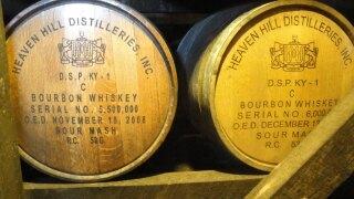 Heaven Hill bourbon barrels