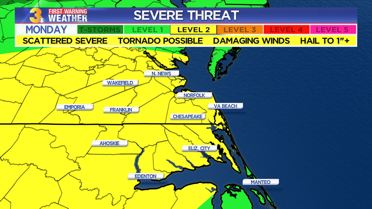 Monday's First Warning Forecast: Threat for severe storms