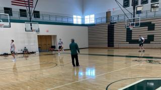 Coopersville boys basketball practice