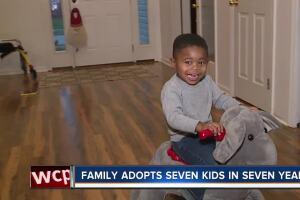 Batavia family adopts seven children in seven years