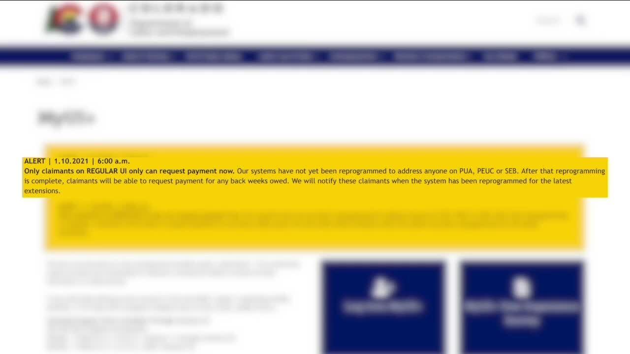 Error on unemployment website
