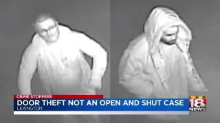 Crime Stoppers: Door Theft Not An Open And Shut Case