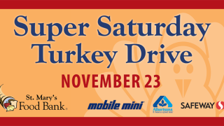 St. Mary's Food Bank is looking for 10,000 turkeys for Thanksgiving this year