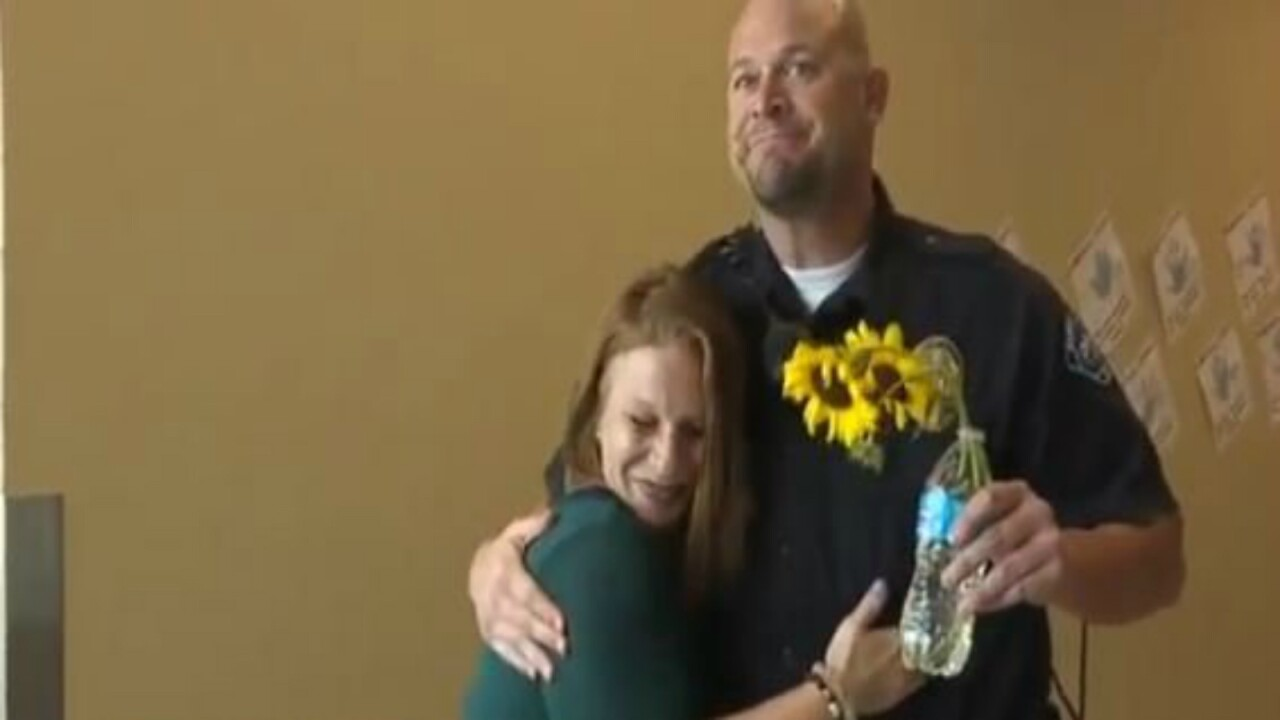 Idaho woman shares touching reunion with officer who saved her life