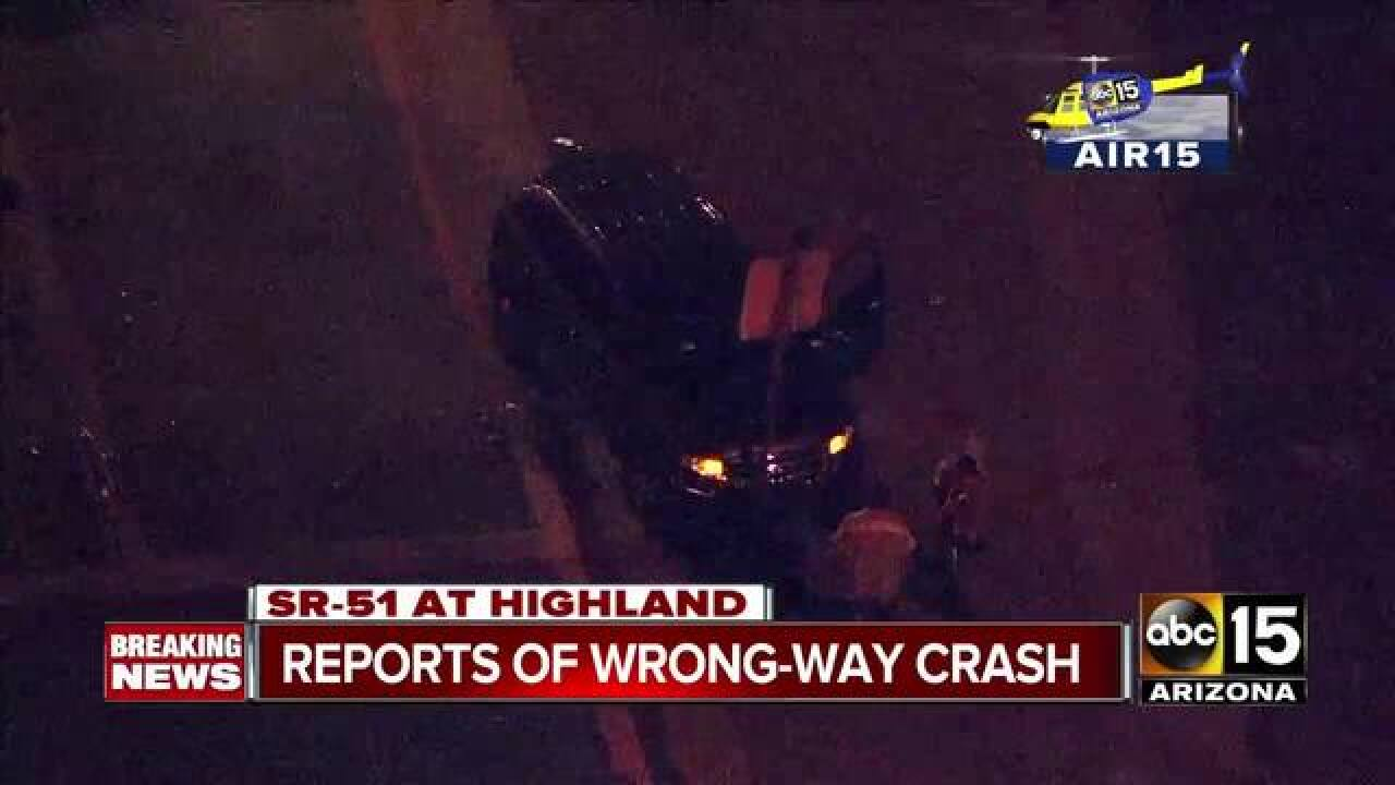 Wrong-way driver causes cars to wreck on SR-51