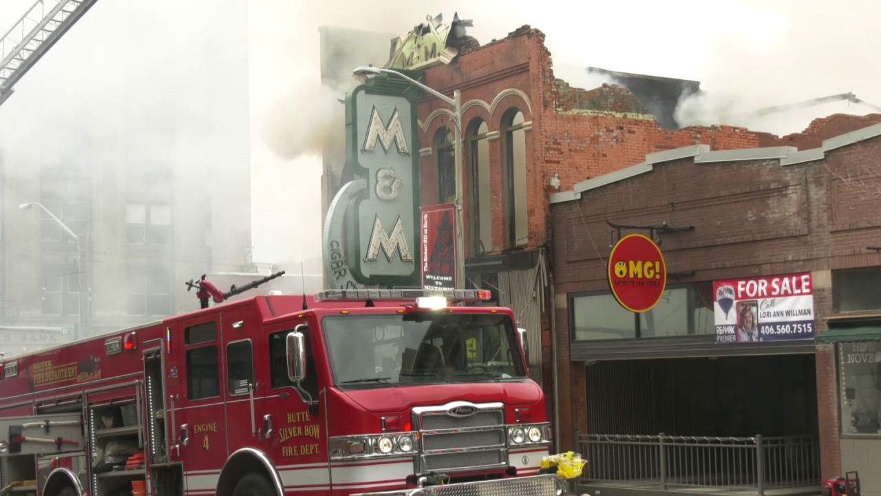 Butte's iconic M&M bar destroyed by fire (May 2021)