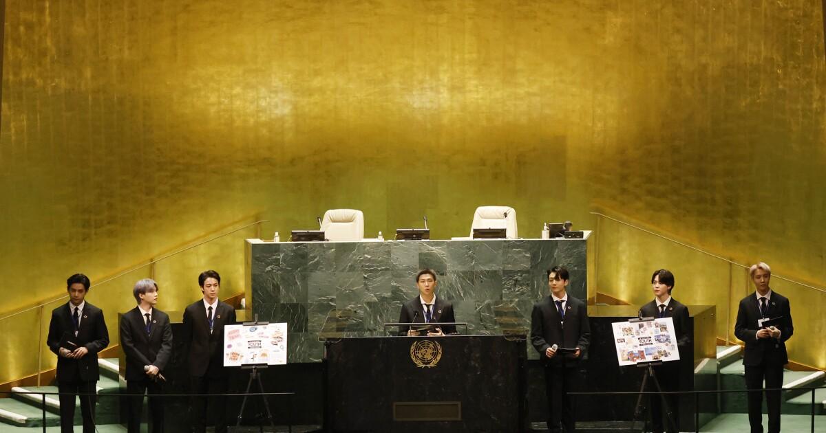 K-pop stars BTS perform, speak at UN General Assembly