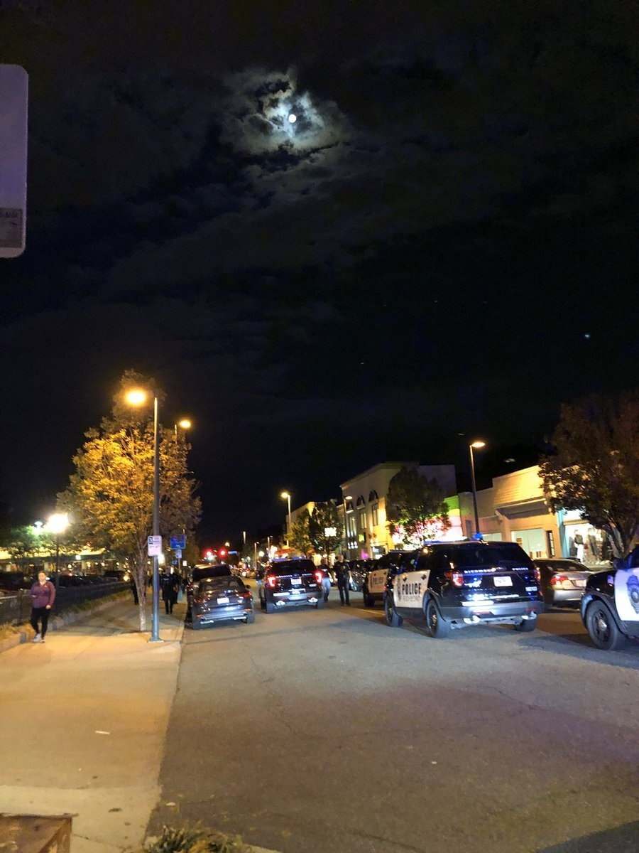 Photos: 2 arrested after 'smoke' devices launched during Carytownprotest