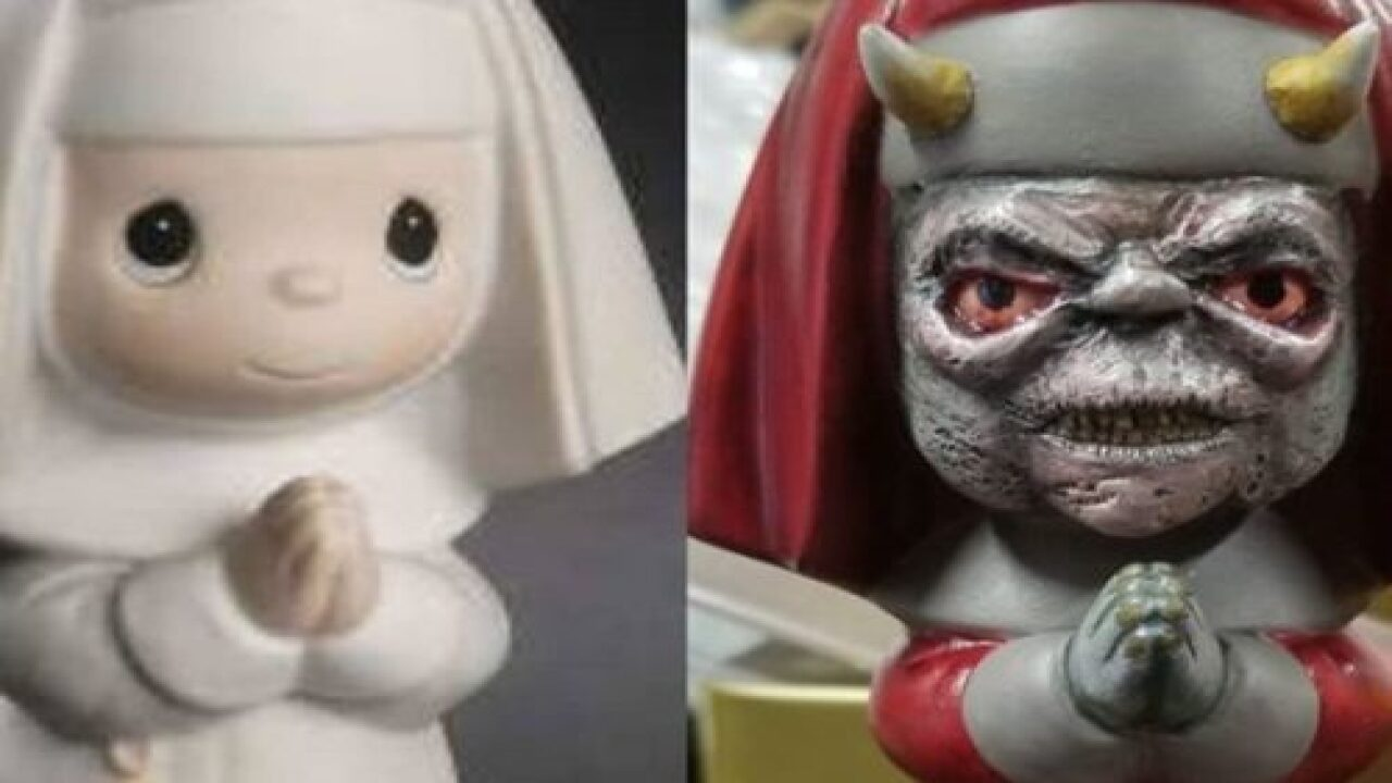 This Artist Turns Precious Moments Dolls Into Scary Sculptures