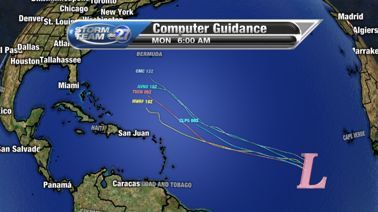 Invest 94L Computer model guidance (07/05/2017)