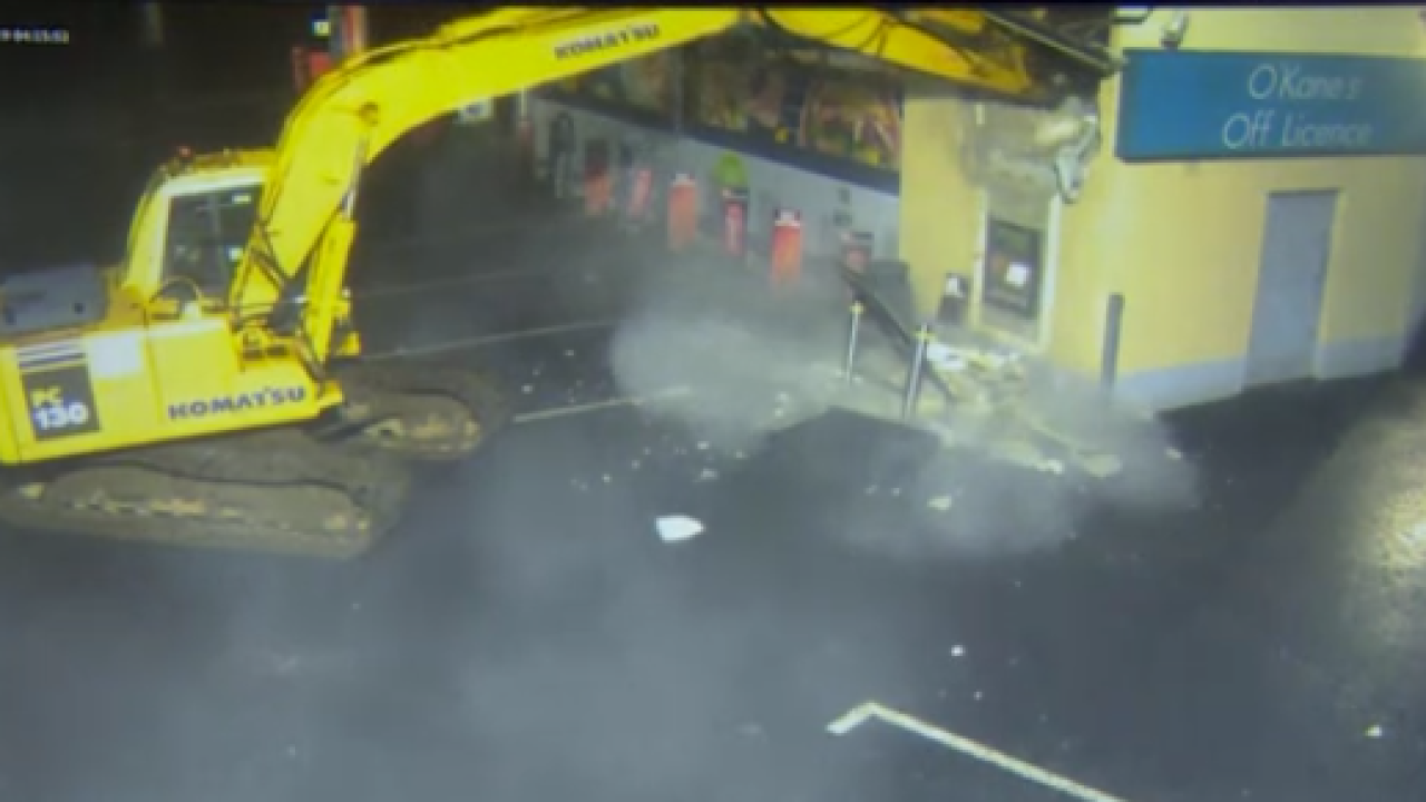 Digger used to steal ATM in NorthernIreland