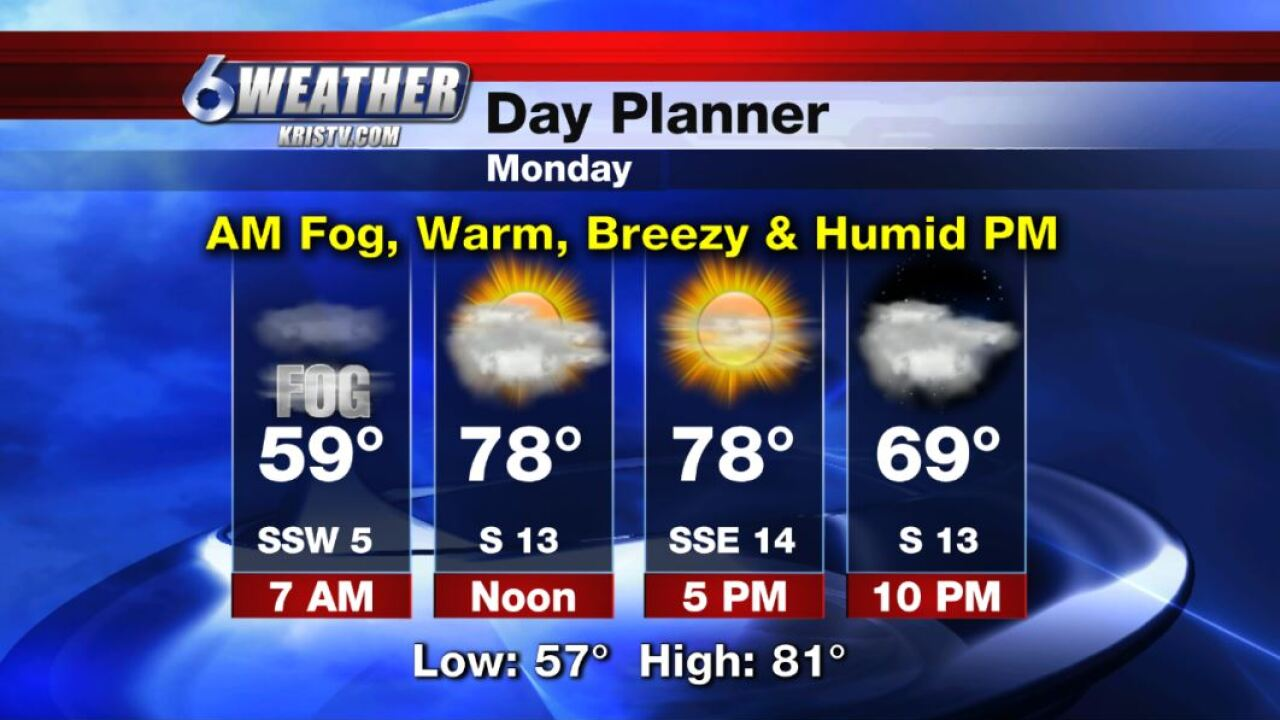 6WEATHER Day Planner for Monday 11-25-19.JPG