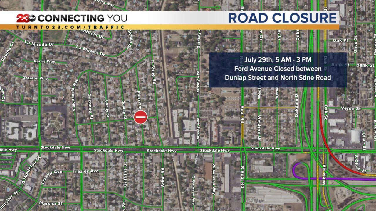 Ford Avenue closure