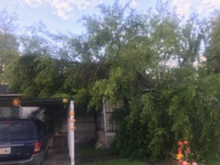Opelousas storm damage to home of Mary Pappillion